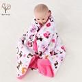Alta qualidade de pelúcia cobertor do bebê recém-nascido swaddle envoltório bebê cochilo Super Macio recebendo cobertor animais cobertor bebe manta bebe