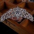 42*125mm Bridal Tiara Prom Rhinestone Crystal Hair Pin Comb Heart Crown Headband Women Wedding Party Jewelry Accessories