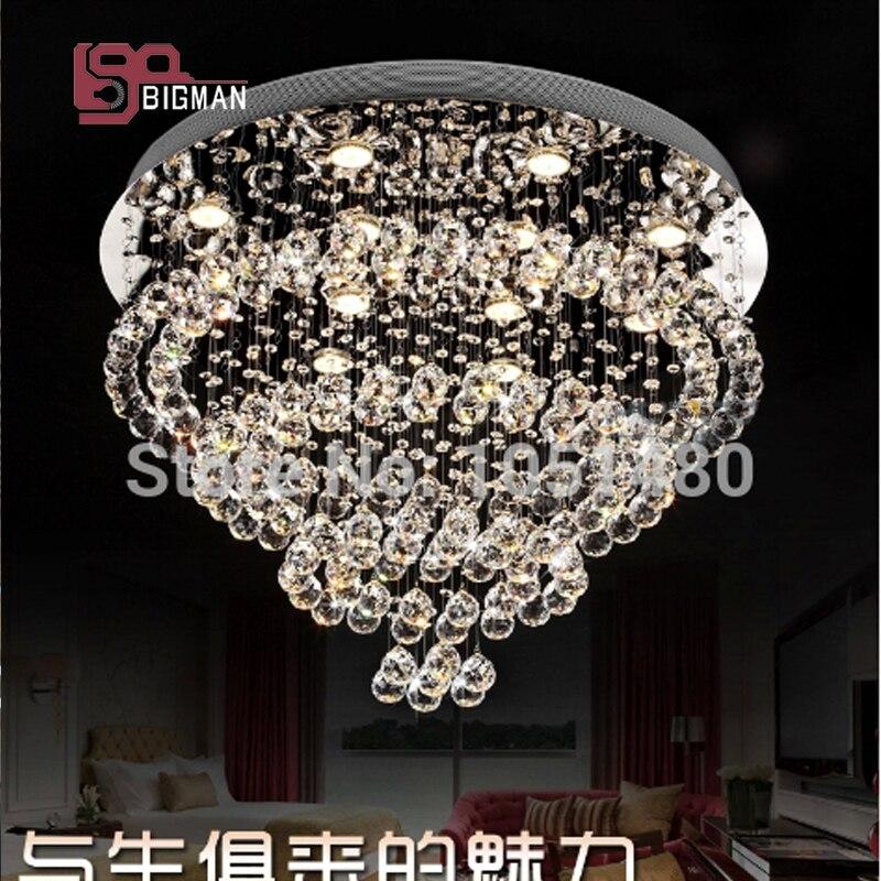 modern round K9 crystal lights ceiling chandelier lighting fixtures for living /dinning room