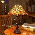 Фумат витражная настольная лампа Европейская классическая настольная лампа ручной работы Креативные прикроватные лампы исследование Кле...