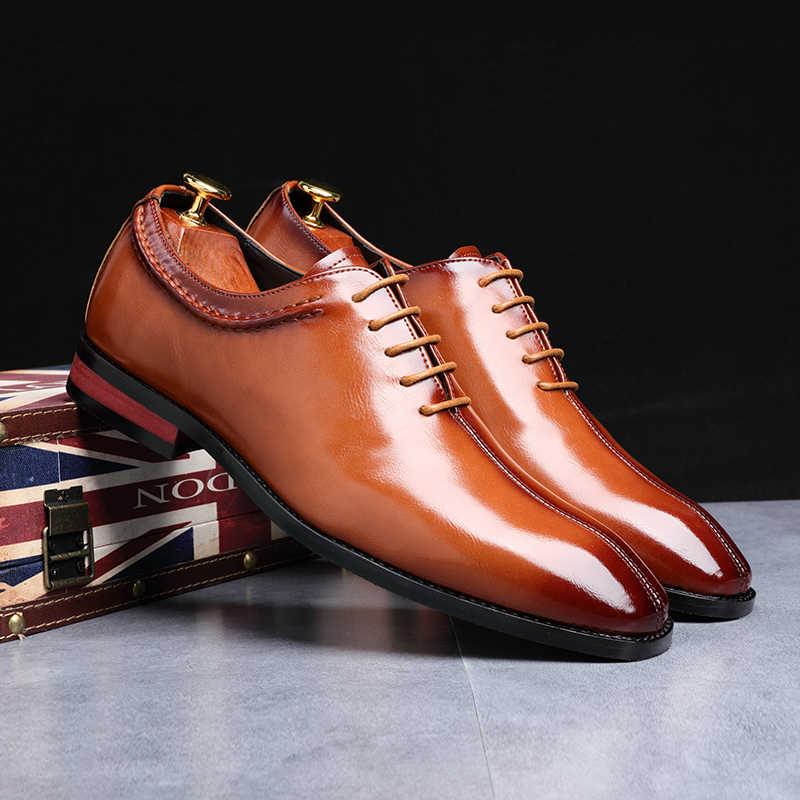 Yomior ขนาดใหญ่สแควร์ Toe men รองเท้าอิตาเลี่ยนอย่างเป็นทางการ Loafers ธุรกิจชุดแต่งงาน Elegant รองเท้าสำหรับชาย Zapatilla hombre