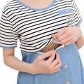 De algodão de manga curta Vestidos de roupas para mulheres grávidas gravidez Ropa Embarazada Gestante Vestidos