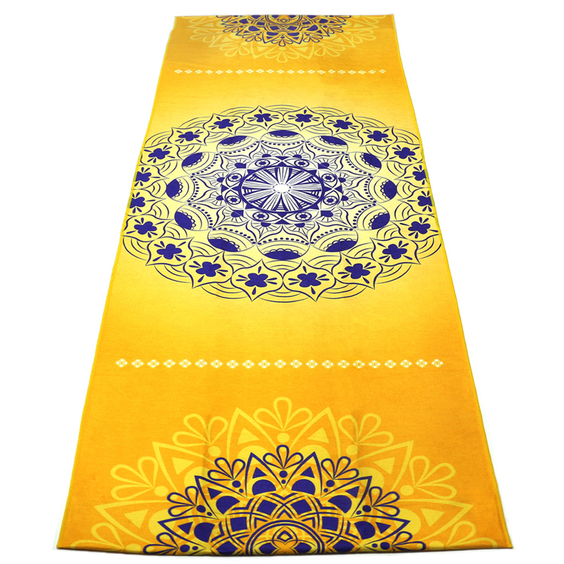Luxury Sweat Grip Mat Towel: Yoga Mat Towel Microfiber Hot Yoga Mandala Printed Towel