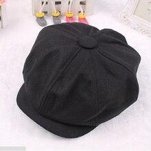 Tweed herringbone Gatsby Cap Hat Mens Ladies Flat 8 Panel Baker Boy Newsboy
