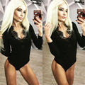 Sexy Women Skinny Long Sleeve Lace V neck Clubwear Jumpsuit Bodysuit Rompers Playsuit Clubwear