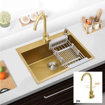 304 in Acciaio Inox lavelli da cucina lavello con rubinetto Nano ...