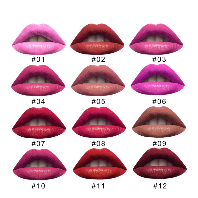 3Pcs LAMUSELAND Lip Glosses Set Long Lasting Waterproof Non-Stick Cup Liquid Lipstick Kit Multicolor Matte lip gloss Makeup Set 6