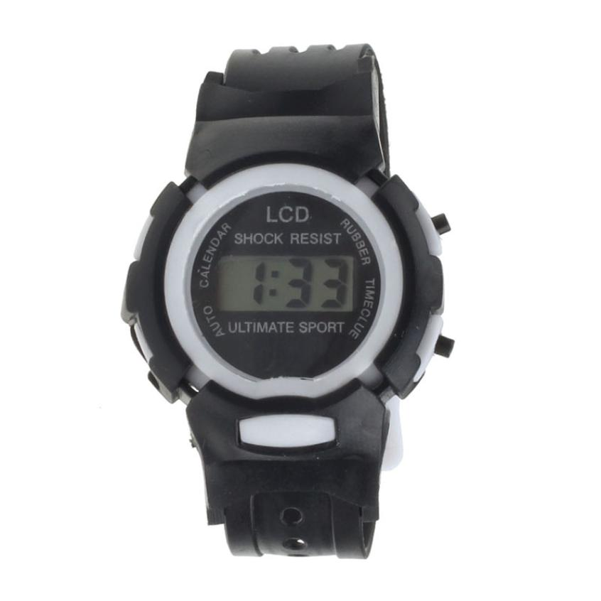 Hot 2017 New FashionSport Electronic Watch Superior Boys Girls Students Time Sport Electronic Digital LCD Wrist Sport Watch Ma16