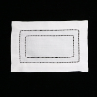 White ramie/Cotton Hemstitched Cocktail Napkins 10 Dozens 9 X 6 Ladder Hem Stitch Cloth Napkin Coasters