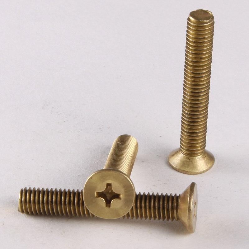 15PCS Brass Crosshead Screw/Flat Screw/Countersunk Head Screws / Bolts   M4*6-4*30  GB819 100pcs brass flat head screw m2 m2 5 m3 brass cross recessed countersunk head machine screws