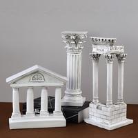 Nordic Greek Temple Parthenon Arc de Triomphe Roman column Sculpture Decor/Home Fairy Garden Fountain/Famous Buildings Figurines