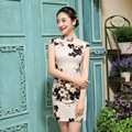 Elegant Women Cheongsam Vintage Qipao Short Chinese Dress Female Evening Dress Chinese Traditional Costume  18