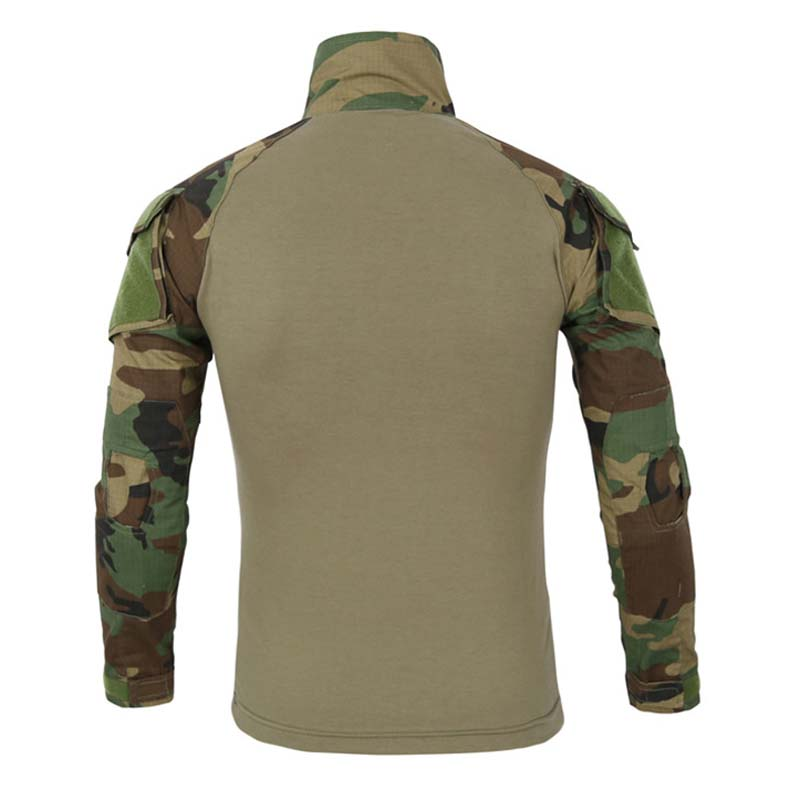Military Army T-Shirt Men Long Sleeve Camouflage Tactical Shirt US Army Combat Soldier Field Shirts