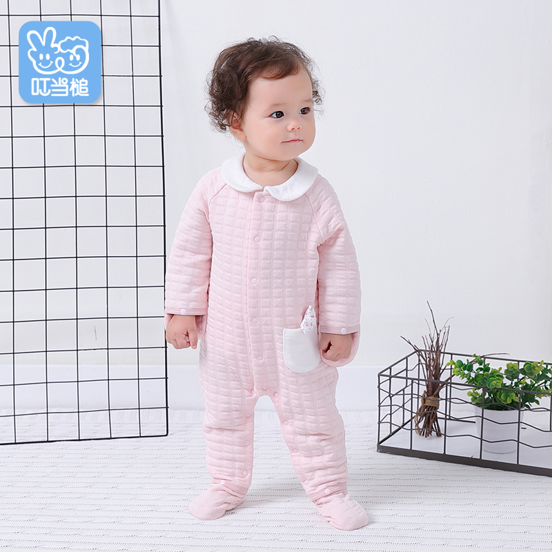 Baby onesies spring and autumn cotton womens warm long-sleeved romper winter female baby gloves feet suits autumn clothes newboBaby onesies spring and autumn cotton womens warm long-sleeved romper winter female baby gloves feet suits autumn clothes newbo