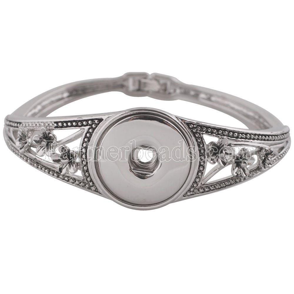 New arrival metal snap bracelets bangles
