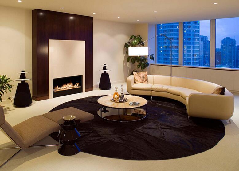 30 Inch Real Fire Indoor Intelligent Smart Bioethanol Fireplace Indoor