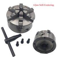 6Jaw Lathe Chuck 100mm 125mm 160mm 200mm Self centering Six Jaw Chuck CNC Metal Lathe Metalworking Accessory