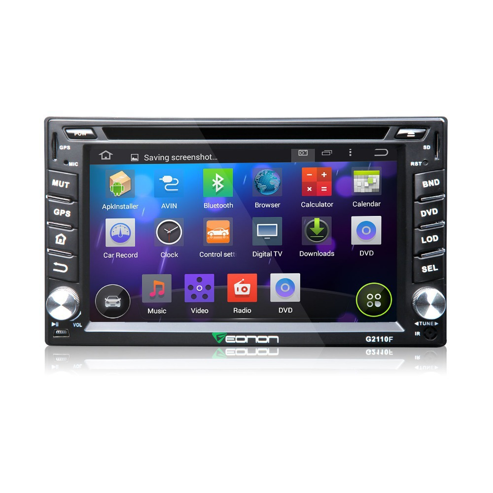 buy autoradio gps 2 din car dvd car radio eonon g2110f 6 2 hd android 4 4 quad. Black Bedroom Furniture Sets. Home Design Ideas
