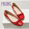 Большой размер 34-43 женская обувь мода бабочкой балетки обувь Площади Toe SpringAutumn Партии sweetstyle студентов Ленивый случайные обувь