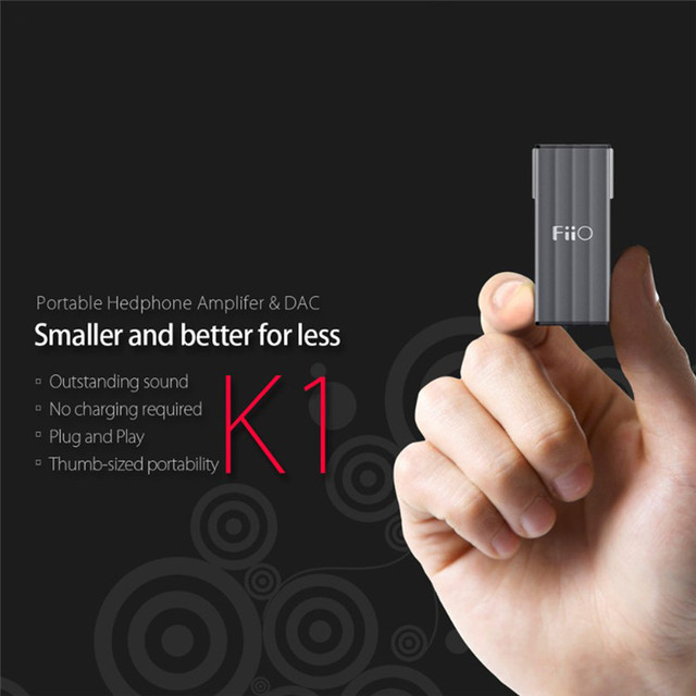 FiiO К1 Мини Портативный USB Dac Усилитель Для Наушников 5 В 500mA 96 кГц/24bit HI-FI Без Потерь Для Mp3 Плеер Телефон Пк наушники