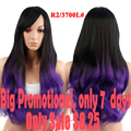 Promotion Long Ombre  Wig 28''Long Wavy Synthetic Wigs For Black Women Cheap Wigs For Women Natural Black Women's Wig Hairstyle