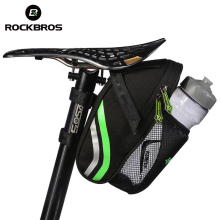 RockBros Folding Bike Bicycle Tail Rear Seatpost Saddle Bottle Bags MTB Mountain Road Cycling Riding Portable Seat Pouch Package