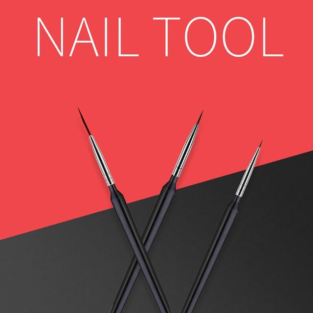 ROHWXY 8pcs/set Nail Print Pen Acrylic Nail Art Brush UV Gel Brush Nail Art Brushes For Manicure Pinceau Nail Art Pincel 3