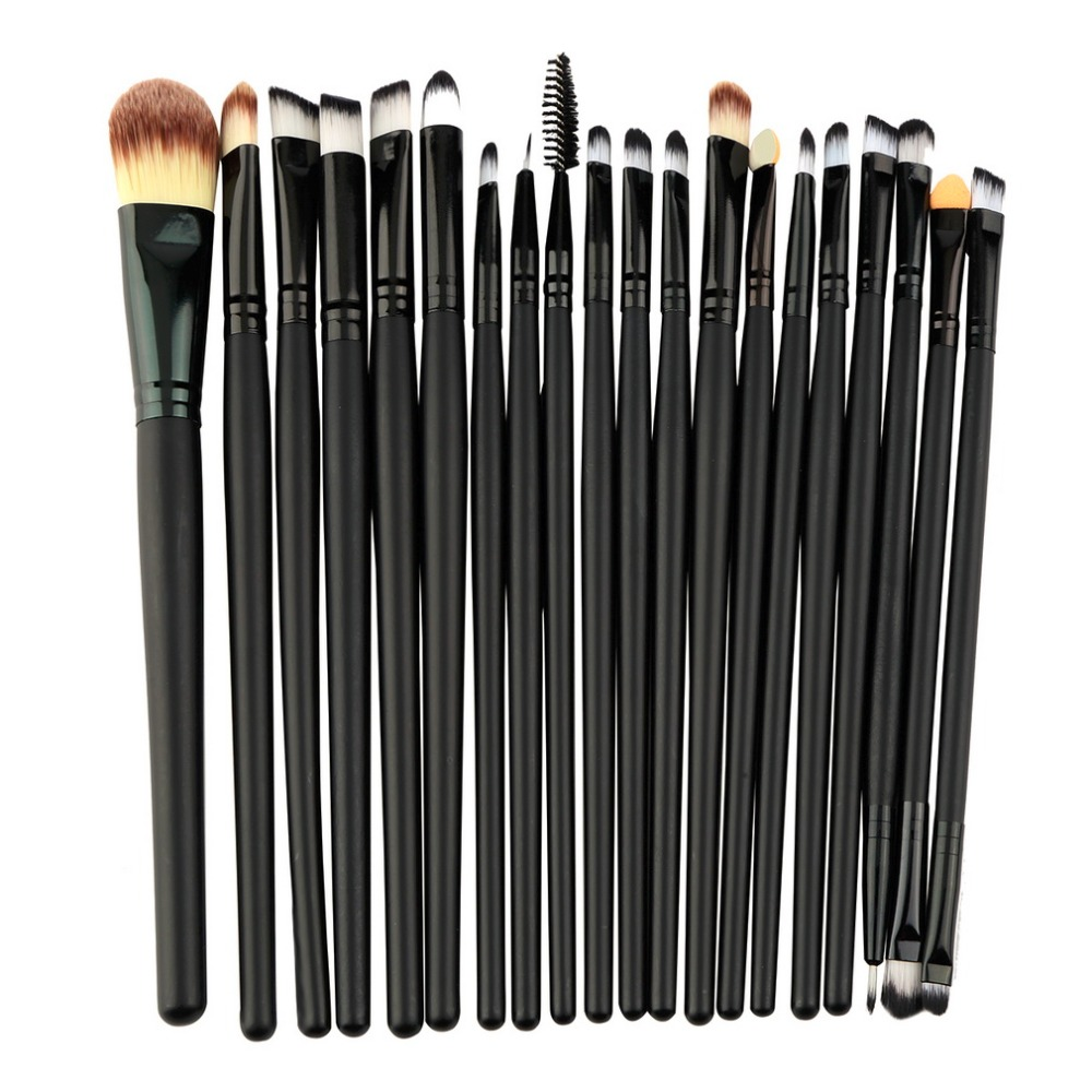 20 pcs/set Makeup Brushes Set Powder Foundation Eyeshadow Eyeliner Lip Brush Cosmetic Beauty Tools Kit Make Up Brushes new 32 pcs makeup brush set powder foundation eyeshadow eyeliner lip cosmetic brushes kit beauty tools fm88