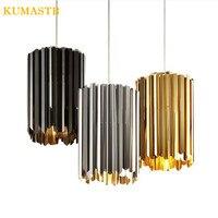 Италия Современный дизайнер лампа золото хром черный Нержавеющаясталь подвесной светильник ресторан бар Спальня сплав подвесной светиль