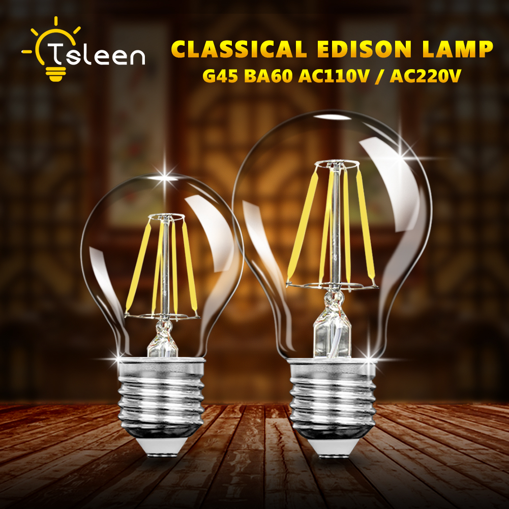 12W 110V Retro Vintage Edison Bulb Led Lamp E27 LED Filament Glass Light Bulb 220V E27 Energy Saving Lamps Light 16W 110V A60 retro lamp st64 vintage led edison e27 led bulb lamp 110 v 220 v 4 w filament glass lamp