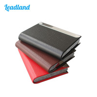 Wholesale10pcs High Quality Magnetic Lock PU Leather Business Name Card Case ID Card Holder Orgainzer Wallet