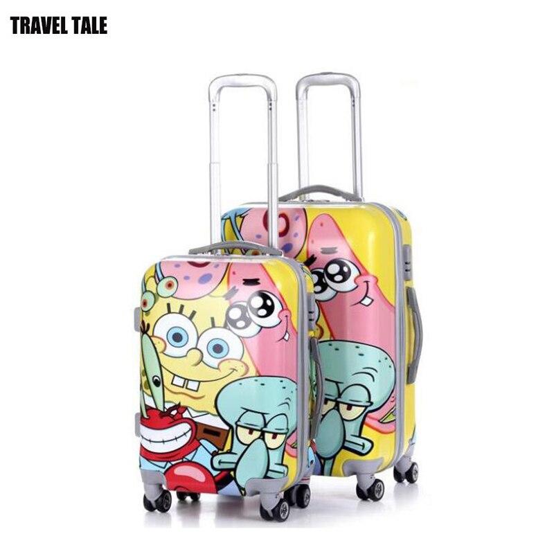 """REISE TALE 20 """"24"""" zoll abs cartoon reise koffer kabine trolley gepäck tasche mit rad-in Rollgepäck aus Gepäck & Taschen bei  Gruppe 1"""