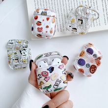 Cartoon illustration Case for airpods cover protective hard case wireless earphone For Charging box