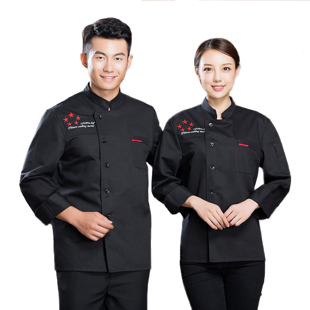High Quality The Five-star Long-Sleeved Autumn&Winter Chefs Jacket Waiter Uniform Restaurant Food Service Kitchen Coat Workwear