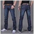 O envio gratuito de Outono e inverno dos homens denim jeans reta calças de brim dos homens em azul escuro de alta qualidade #6699