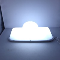 14.5 DIY LED Blank Taxi Sign Roof Top Topper Car Super Bright Light USB Cab Taxi Car Roof Light Accessories