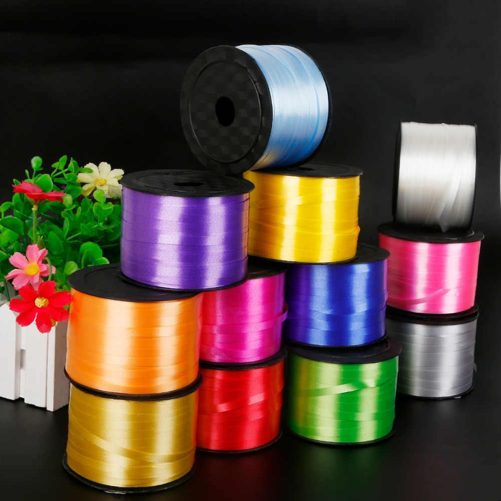 1 pc/lote Venda Quente Balão de alumínio Fitas 5mmx100yard Coloração DIY Acessórios Para Chrismas Party Presentes de Casamento Artesanato Decoração