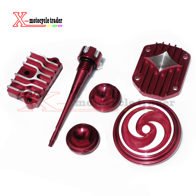 <font><b>Engine</b></font> Dress Up Kit Cover Red For <font><b>Lifan</b></font> Zongshen YX 50cc <font><b>70cc</b></font> 90cc 110cc Pit Dirt Bike ATV Quad Motocross Motorcycle image