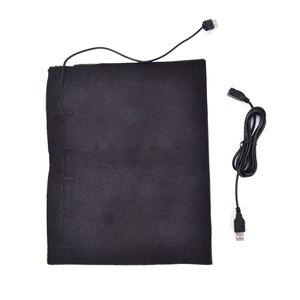 Image 1 - เส้นใย USB เครื่องทำความร้อนคาร์บอนไฟฟ้าแจ็คเก็ตเบาะนุ่มฤดูหนาวเสื้อกั๊กผู้ชายความร้อนเสื้อผ้าอุ่นแผ่นอุ่นสำหรับแผ่น pad
