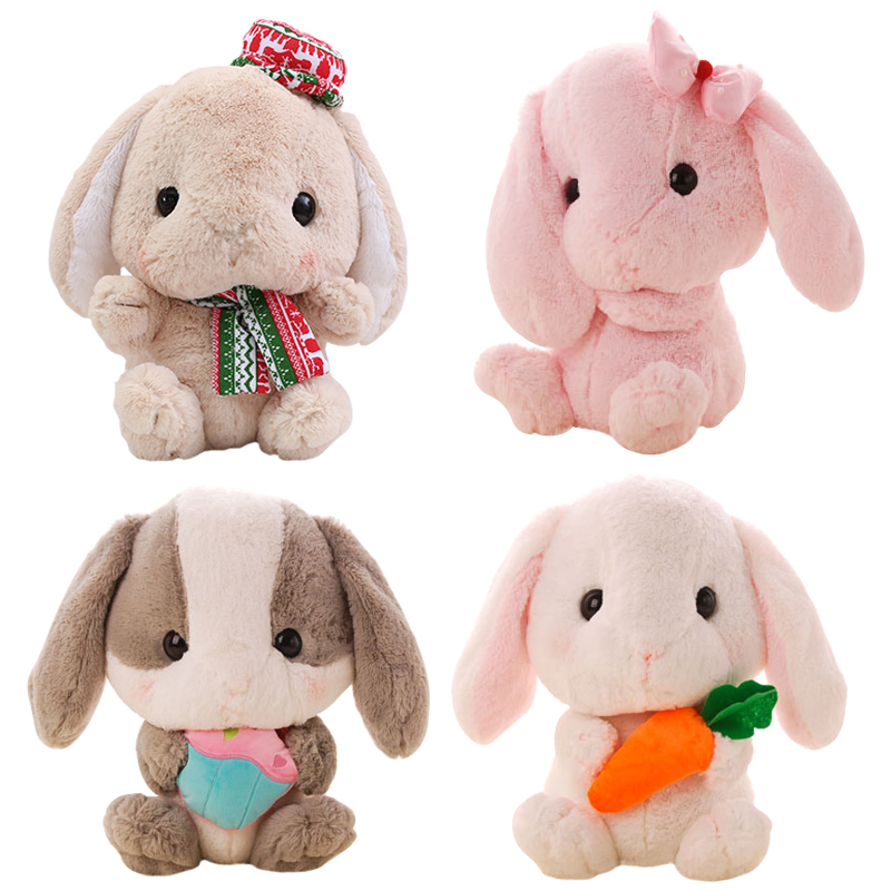 1pcs 22cm New Cute Japan Kawaii Long Ear papa Lop Rabbit with Bamboo charcoal bag big headDoll Plush Toys car decoration Gift cuddl duds new charcoal longsleeve pajama top m $22 dbfl