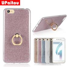 UPaitou Glitter Bling Case For OPPO A71 Case With Ring Stand Finger Ring  Holder Soft TPU db77b502b2bc