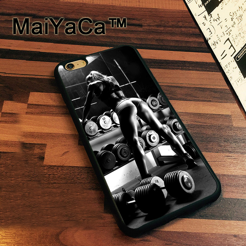 MaiYaCa Gym Fitness Girl Sexy Newest Slim Soft TPU Phone Cases For Apple iphone 7 Case 4.7 Cover For iphone 7 Back Bag
