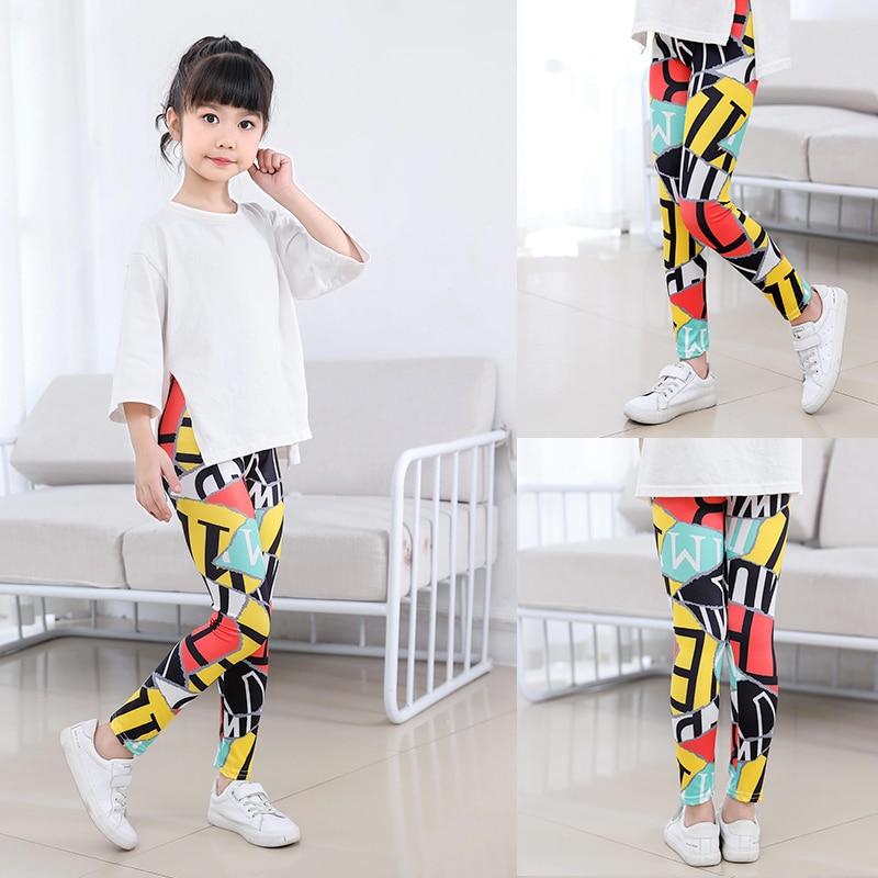SheeCute/Леггинсы с принтом для девочек; одежда для маленьких девочек; Детские обтягивающие леггинсы с цветочным принтом; SC1752