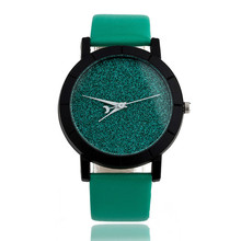 reloj mujer 2017 Fashion Women Watches Star Minimalist Printed Round Dial Leather Strap bracelet watch Clock Relogio Feminino