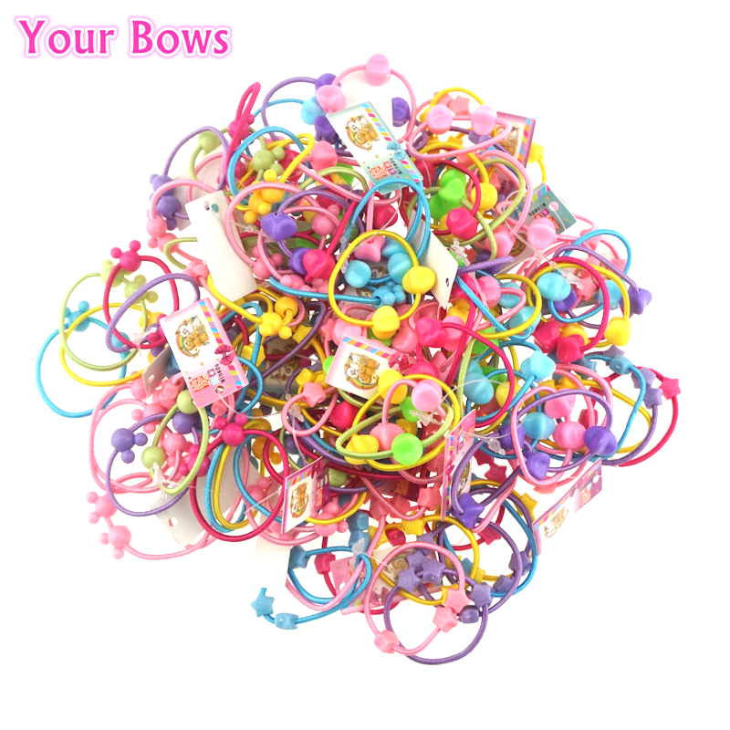 21Pcs/Lot Round Ball Kids Elastic Hair Bands Korea Style Kids Headwear Children Rubber Hair Bands Kids Hair Accessories 2015 fashion elastic hair bands for women candy color baby girl kids headbands hair ropes headwear hair accessories 20 colors