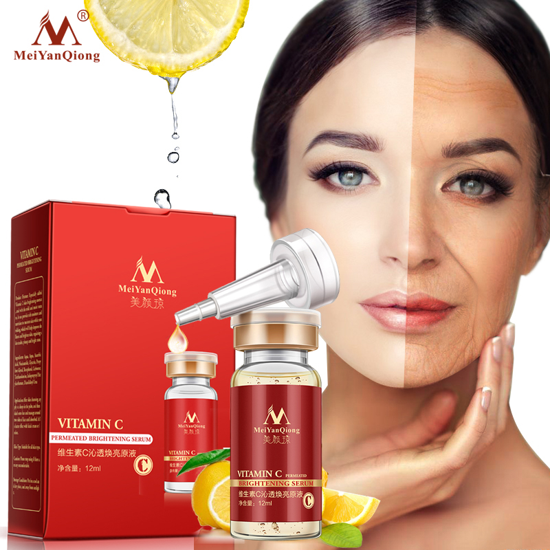 12ml Vitamin C Serum Whitening And Anti-Aging Fade Spots Scar Acne Removing Freckle Anti Winkles Moisturizing Face Cream VC