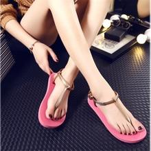 2016New women's flip flops casual sandals Hot women flats slides summer fashion beach sandals women simple sandals zapatos mujer