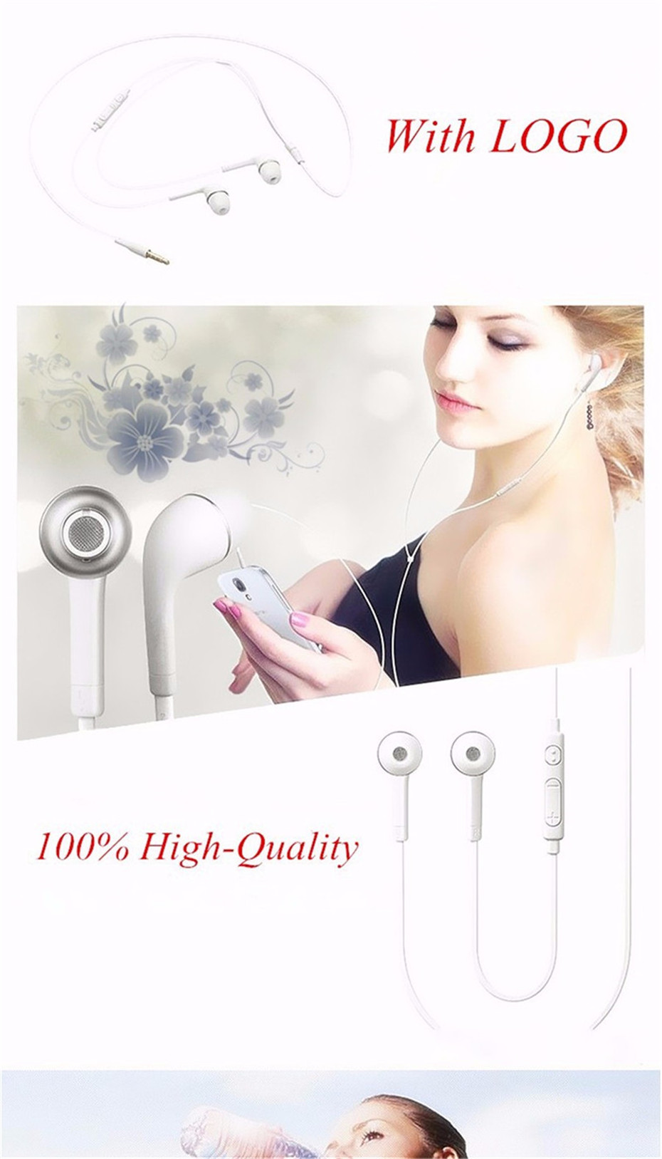 S4 earphones for phone earphone with microphone (1)