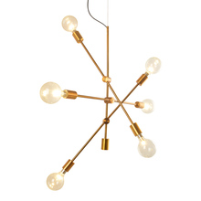 купить Post modern pendant lamp unfold 6 arm simple Suspendsion light adjustable arm Fixture E27 lamp AC220V Bedroom Dining Living Room по цене 19687.96 рублей