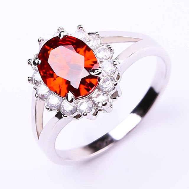 2016 William Princess Diana engagement romantic wine red gemstone